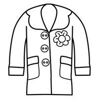 desenhos de roupas e acessórios para colorir tudodesenhos