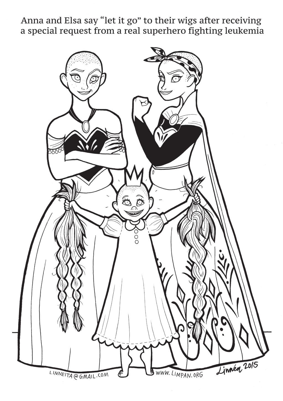Desenho De Filme Frozen Elsa E Anna Para Colorir