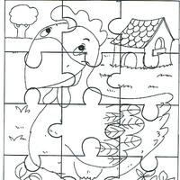 Desenhos De Quebra Cabeca Para Colorir Tudodesenhos