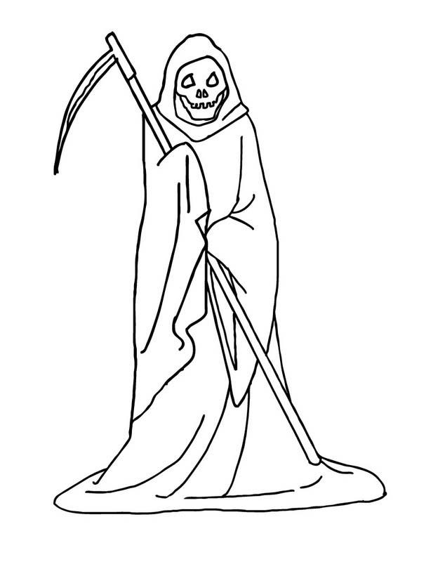 Desenho De Santa Morte Para Colorir Tudodesenhos
