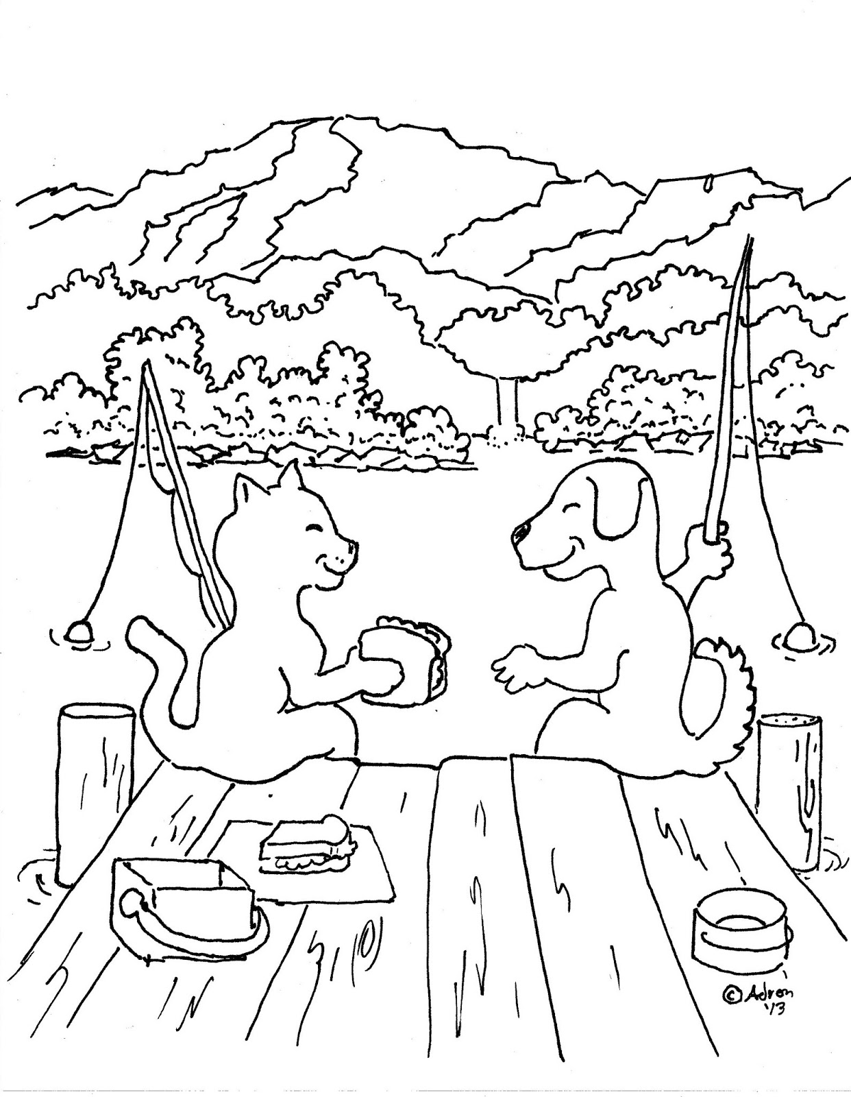 dog coloring pages realistic fish - photo#25