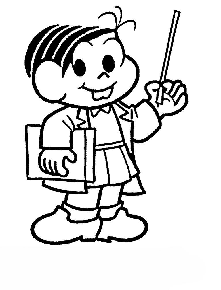 desenho de professora monica para colorir tudodesenhos