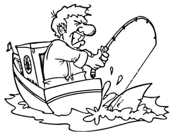 desenho de pescaria difícil para colorir tudodesenhos