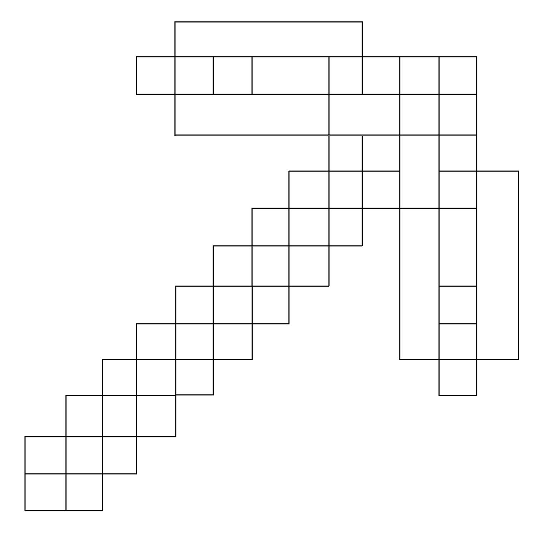 Desenho de Picareta de Minecraft