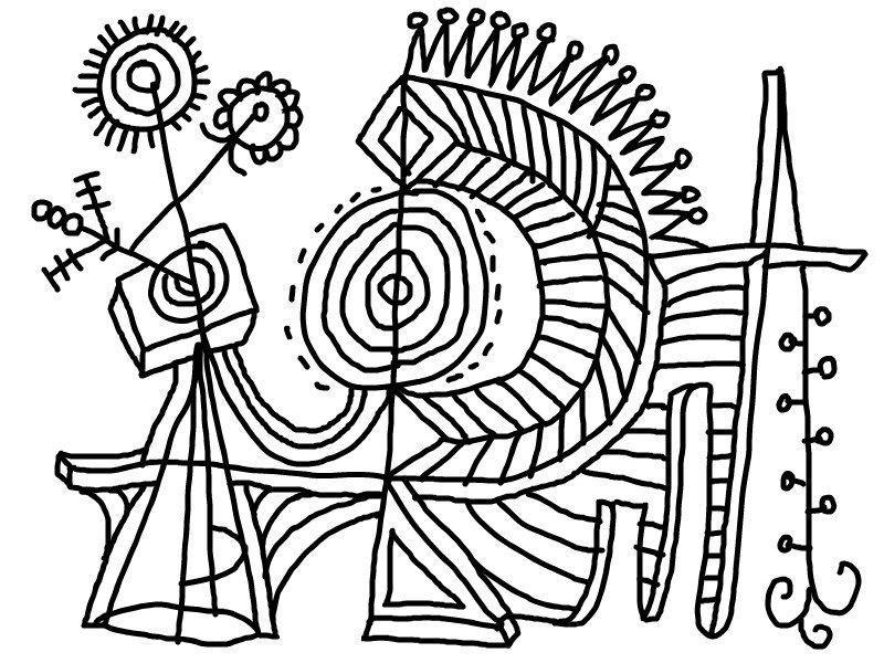 Desenho De Arte Abstrato Para Colorir Tudodesenhos