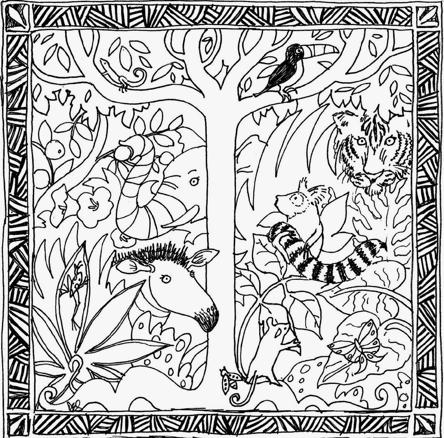 Coloring Pages Of The Amazon Rainforest