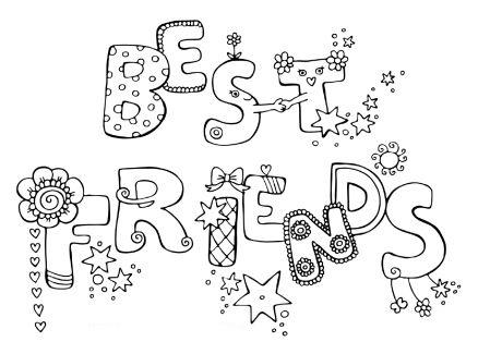 desenho de melhores amigos em inglês para colorir tudodesenhos