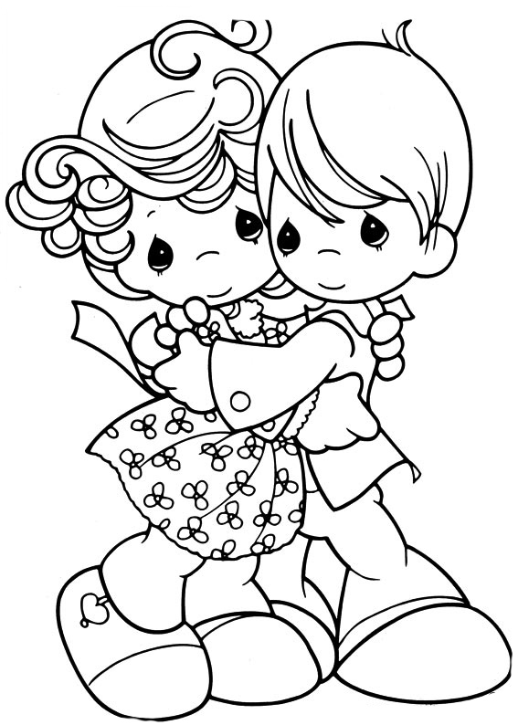 Desenho De Amizade Entre Menino E Menina Para Colorir Tudodesenhos
