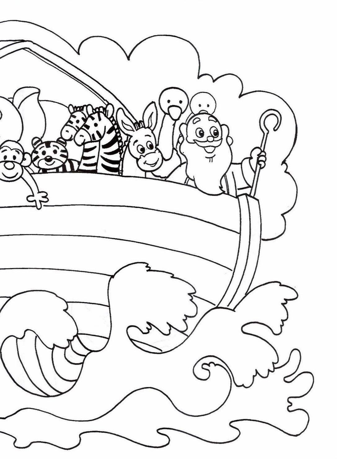 desenho de história da arca de noé para colorir tudodesenhos