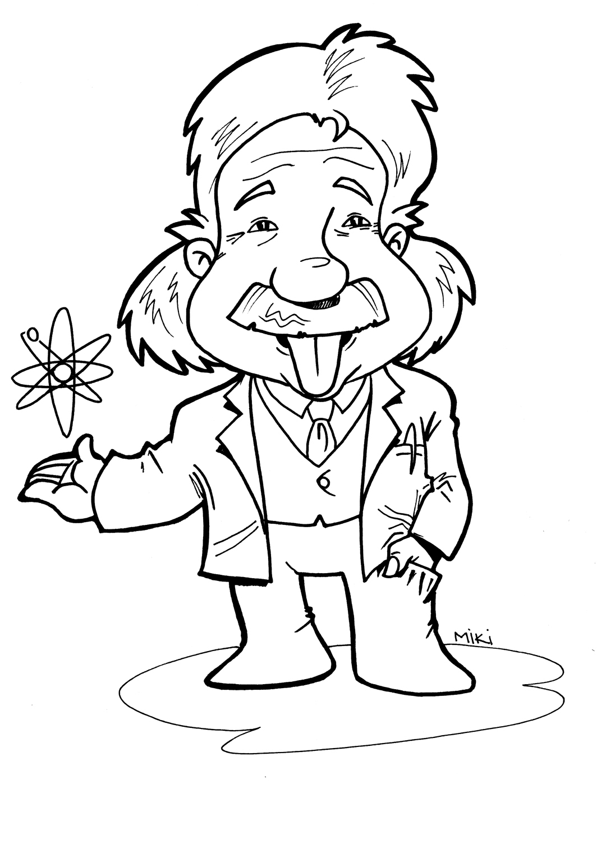 desenho de albert einstein para colorir tudodesenhos