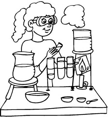Desenho De Laboratrio Mdico Para Colorir