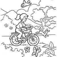 Desenho De Menino Lendo Livro No Parque Para Colorir Tudodesenhos