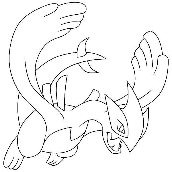 Desenho De Lugia Pokemon Legendario Para Colorir