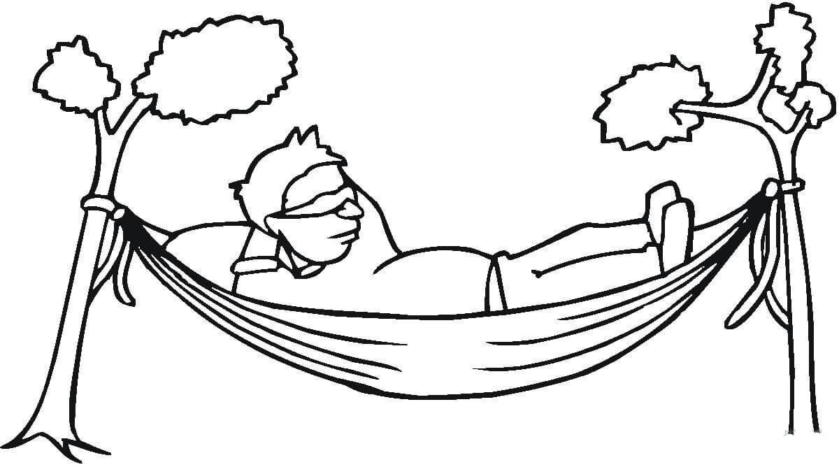 Desenho De Rede De Descanso Para Colorir