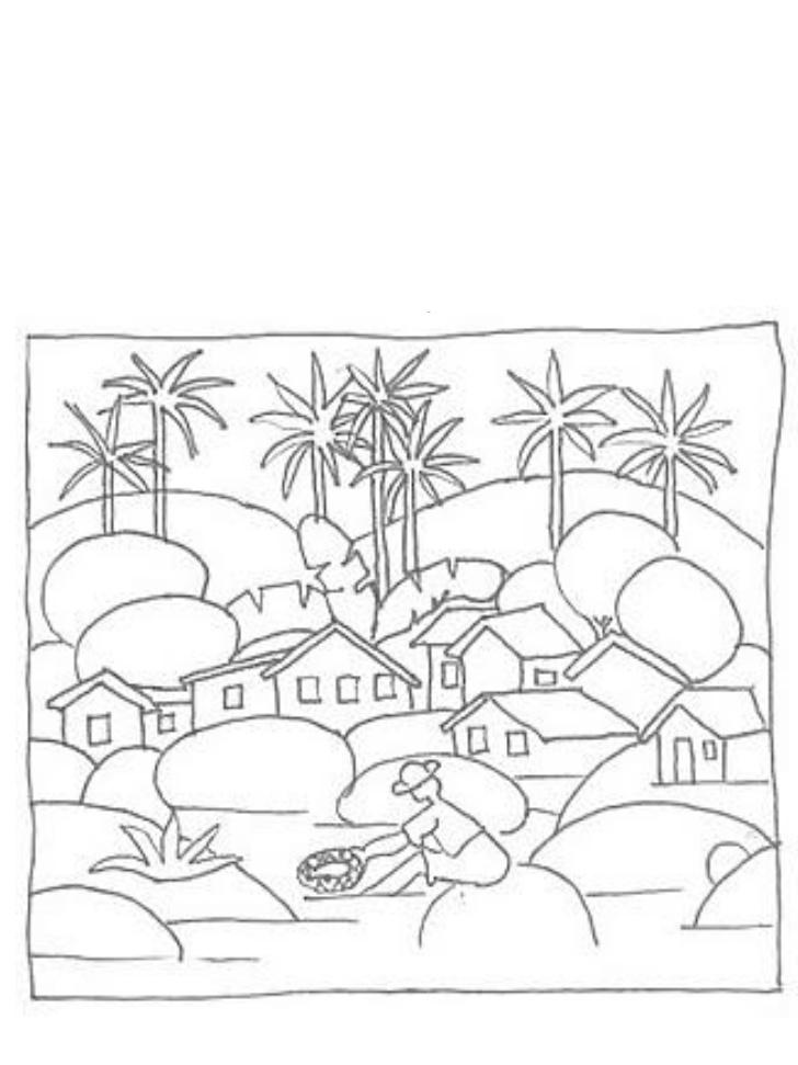 Desenho De O Pescador De Tarsila Do Amaral Para Colorir Tudodesenhos