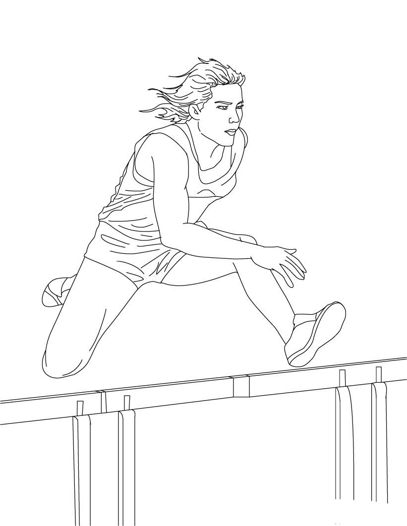 desenho de corrida com obst u00e1culos para colorir