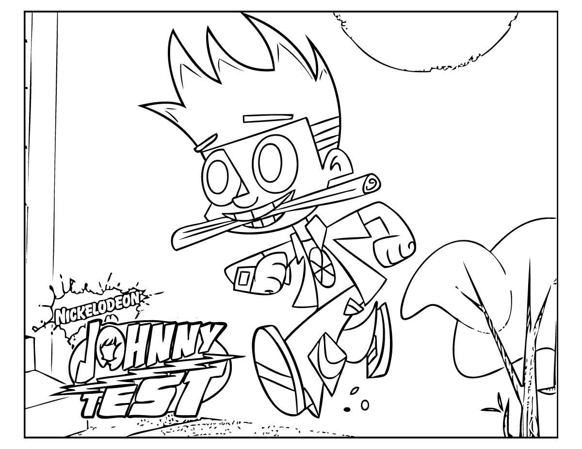 10 Johnny Test Coloring Pages Online