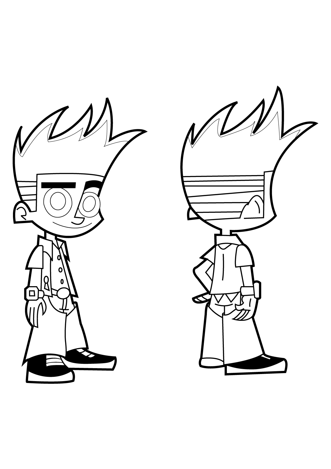 Johnny test frente e verso
