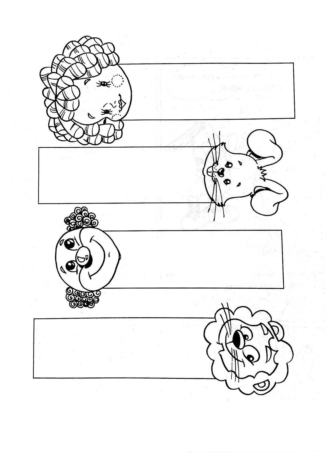Desenhos De Marcador De Livro Para Colorir Tudodesenhos