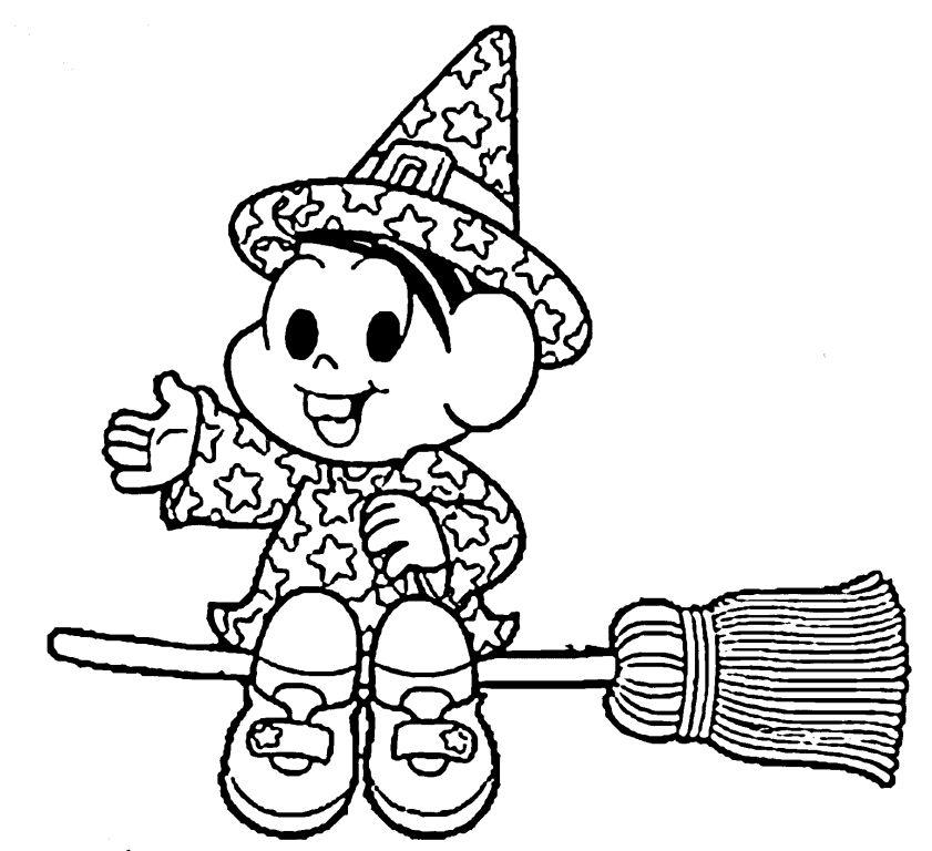 desenho de monica bruxinha para colorir tudodesenhos