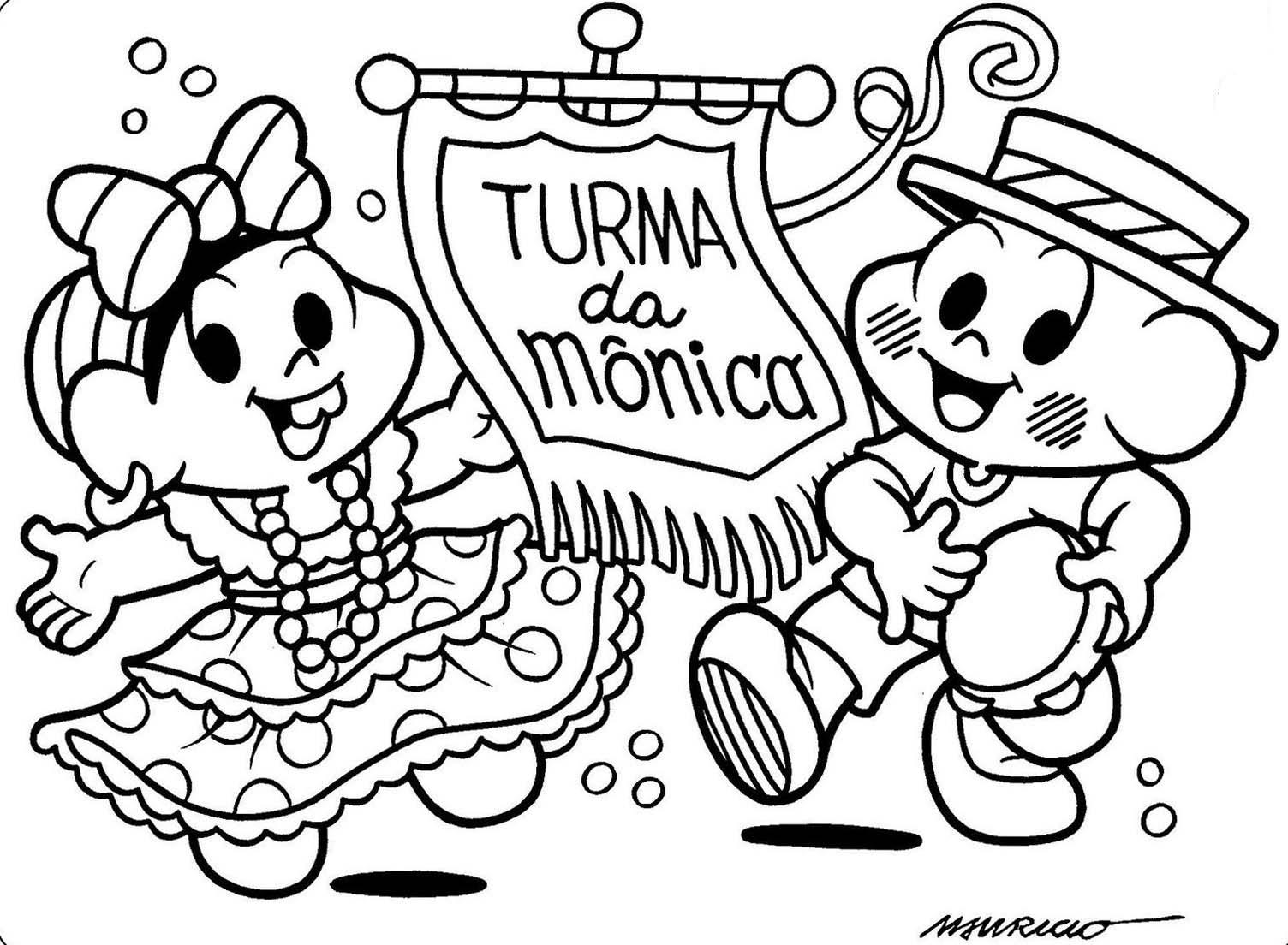 Desenho De Bloco Da Turma Da Monica Para Colorir Tudodesenhos