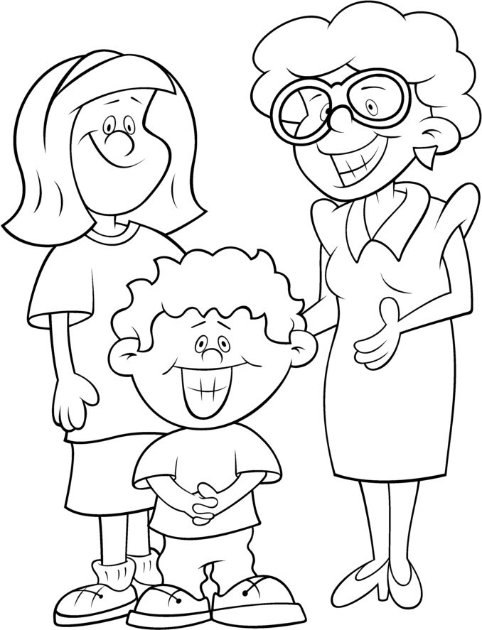 Desenho De Família E Escola Para Colorir Tudodesenhos