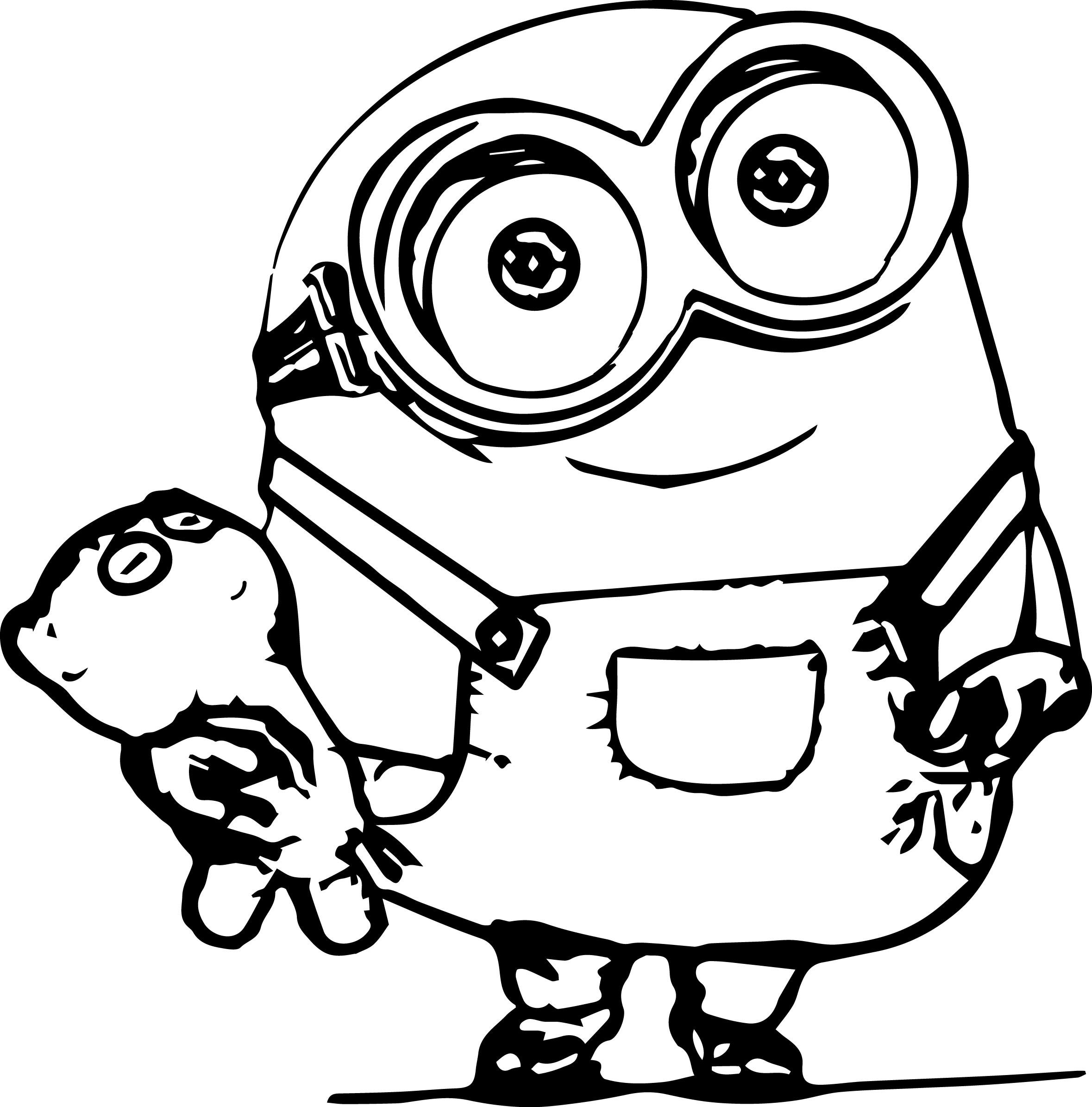 Desenho De Minion Bob Para Colorir Tudodesenhos
