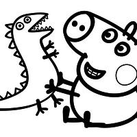 Familia Peppa pig colorir