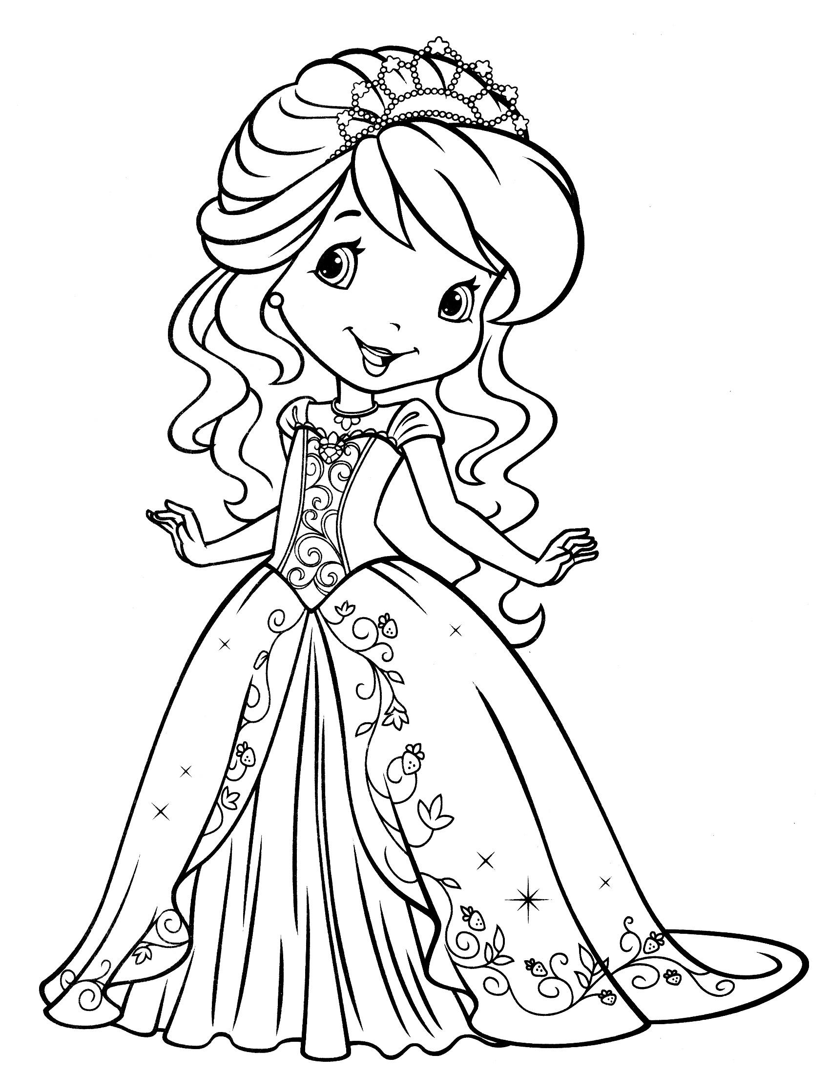 Desenho De Princesa Moranguinho Para Colorir Tudodesenhos