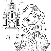 desenho de moranguinho princesa para colorir tudodesenhos