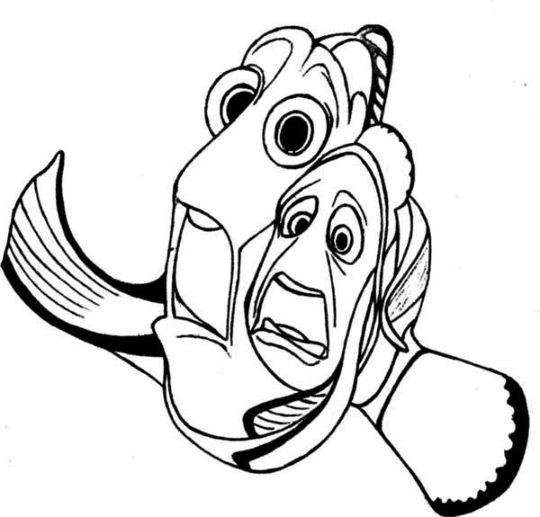 Desenho De Nemo E Dory Com Medo Para Colorir - Tudodesenhos
