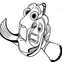 Desenho De Nemo Dory E Marlin Para Colorir Tudodesenhos