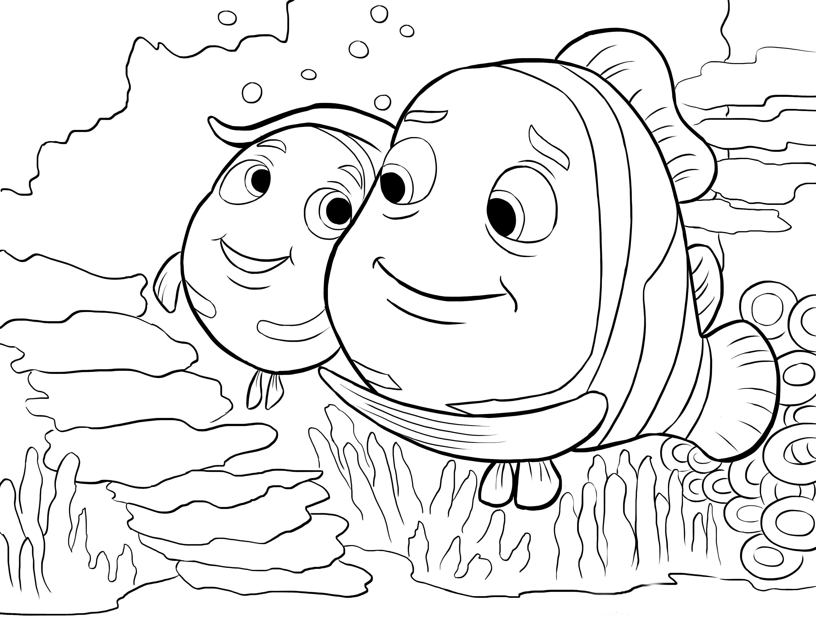 Desenho De Pai Do Nemo Para Colorir
