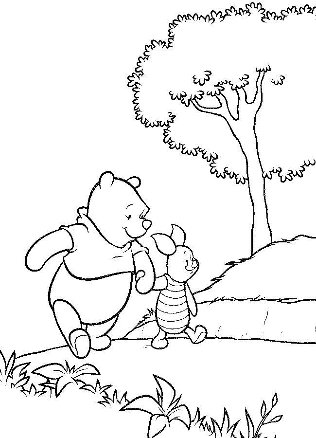Desenho De Pooh E Piglet De M 227 Os Dadas Para Colorir