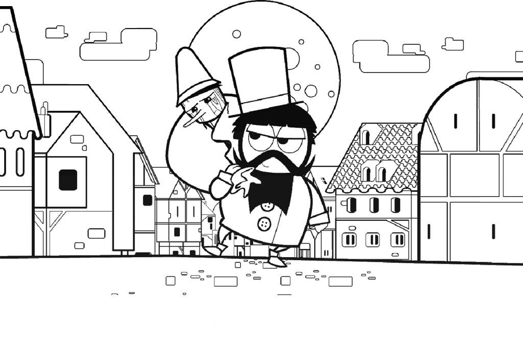 Desenho De Stromboli Sequestra Verdadeiro Pinóquio Para