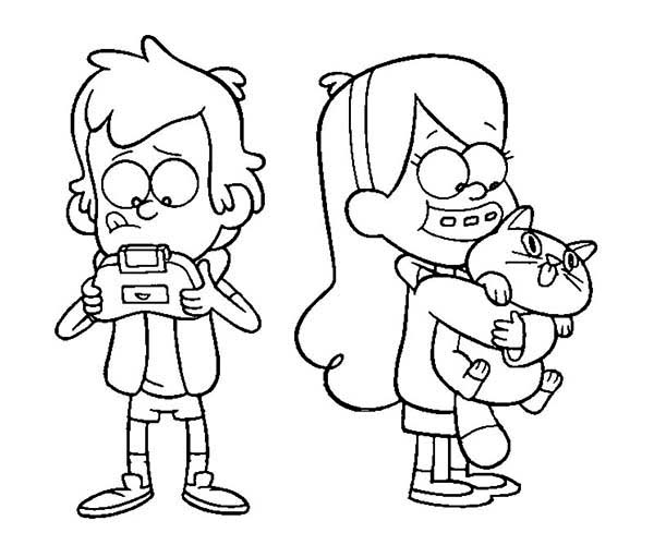 mabel and dipper coloring pages - photo#11