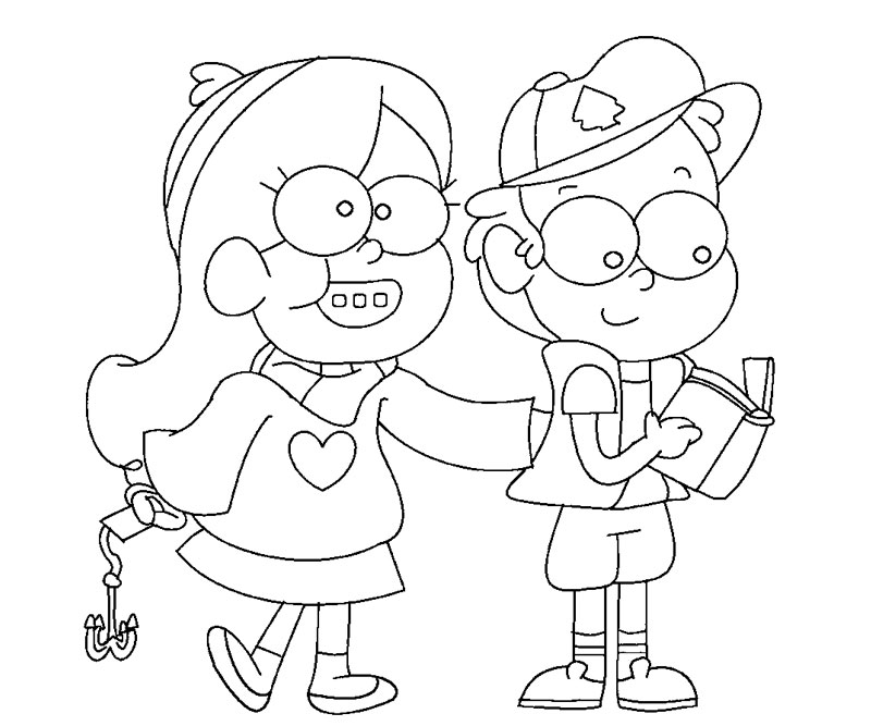 mabel and dipper coloring pages - photo#16
