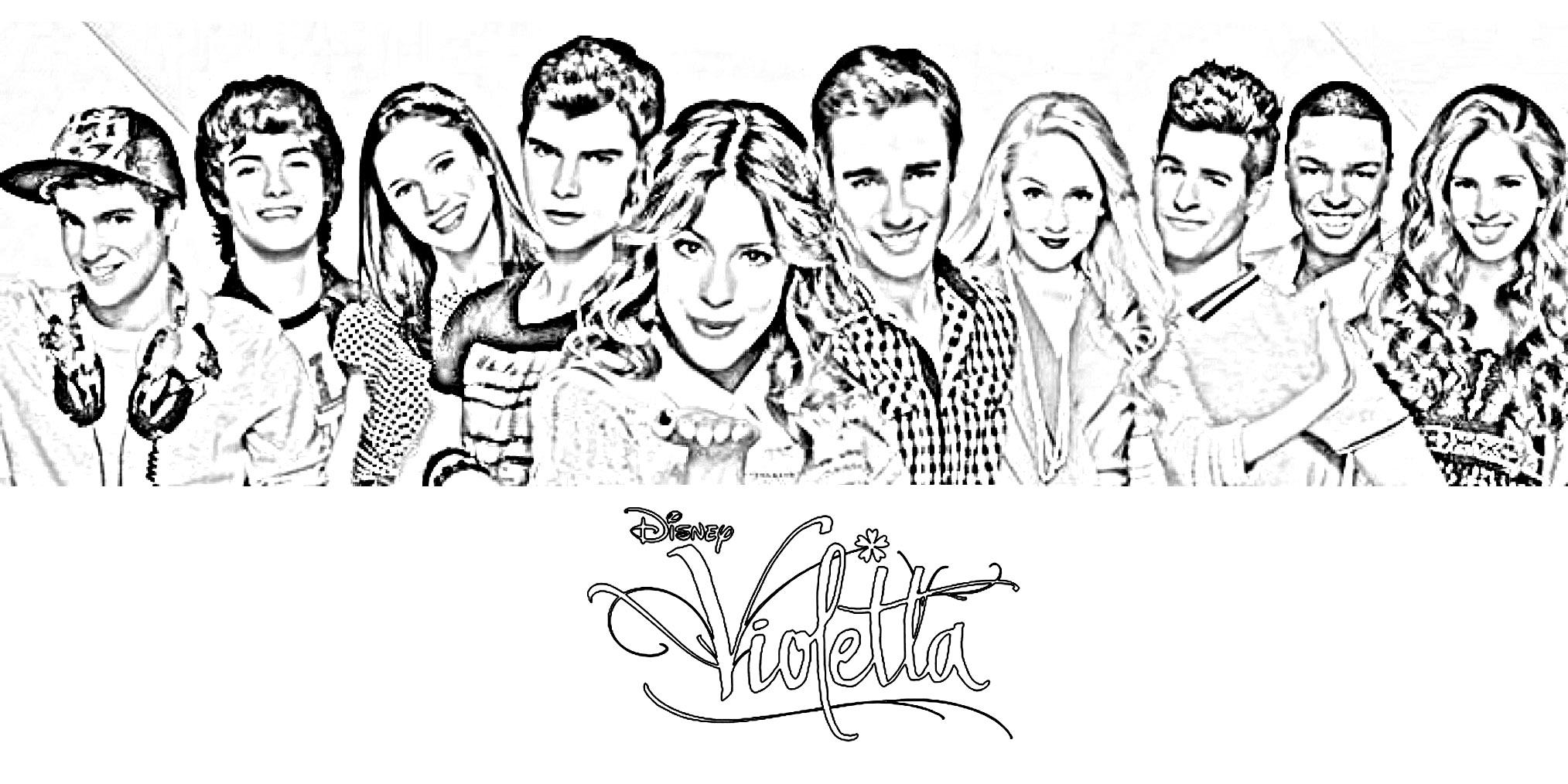 Desenho de Personagens de Violetta para colorir - Tudodesenhos Cantando