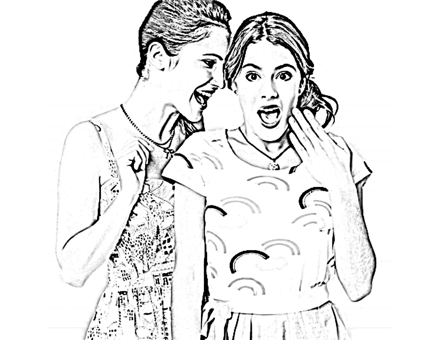 Desenho De Violetta Conversando Com Amiga Para Colorir