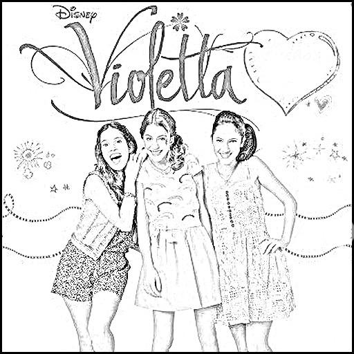 Desenho de Violetta e ...