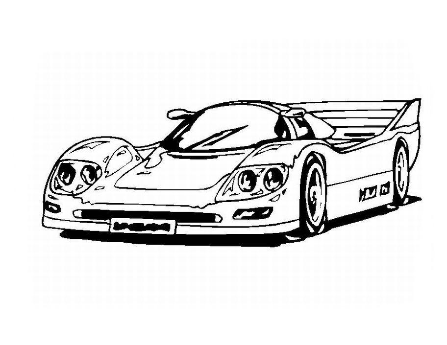 desenho de carro de luxo porsche para colorir tudodesenhos