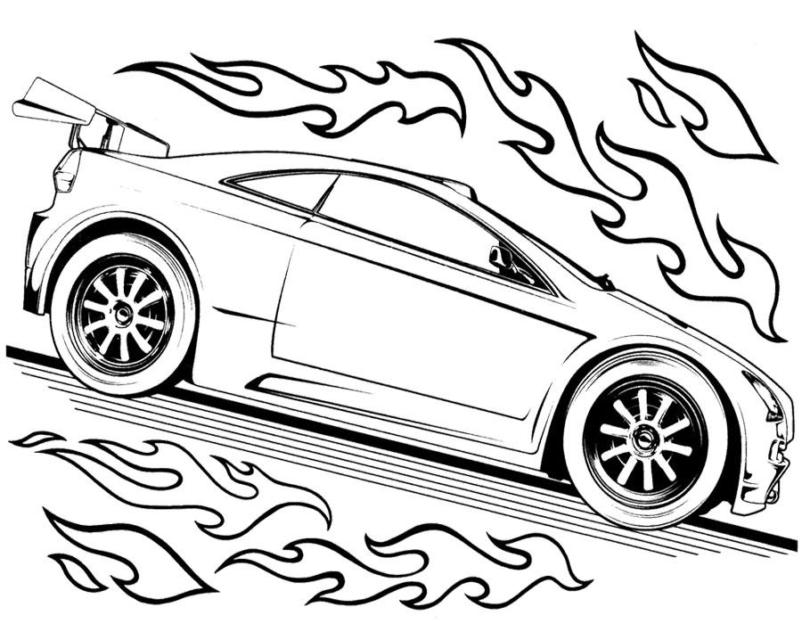 Desenho de Carro do Hot Wheels para colorir - Tudodesenhos
