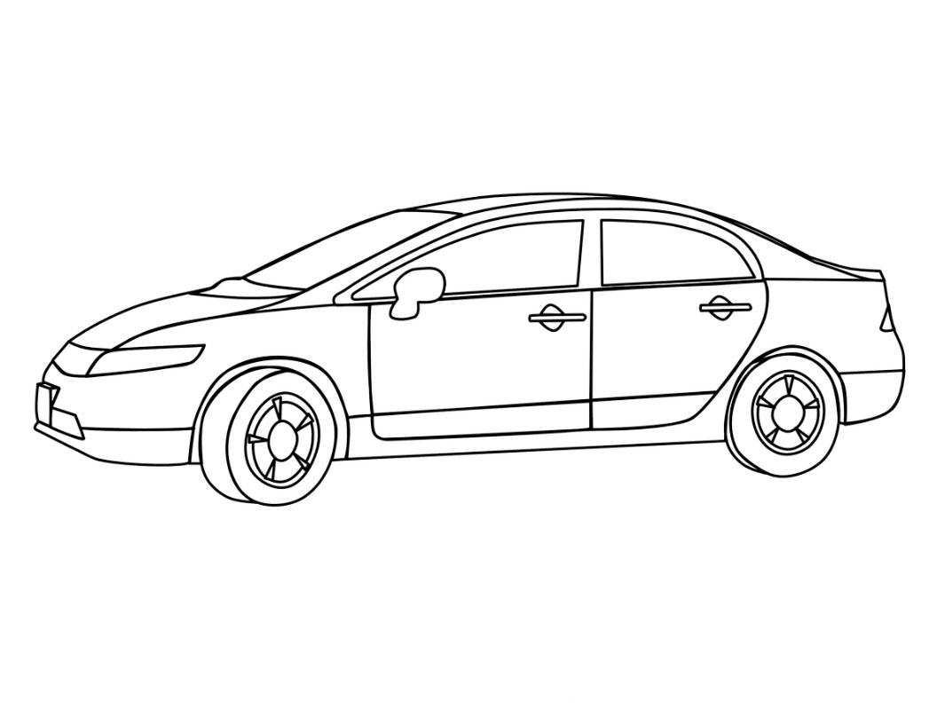 Desenho de carro de 4 portas para colorir tudodesenhos - Dessin voiture enfant ...