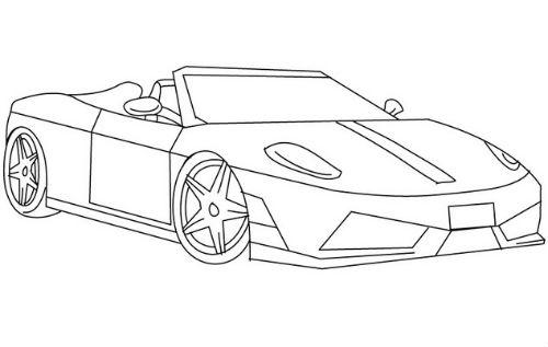 Desenho De Ferrari Para Colorir Tudodesenhos