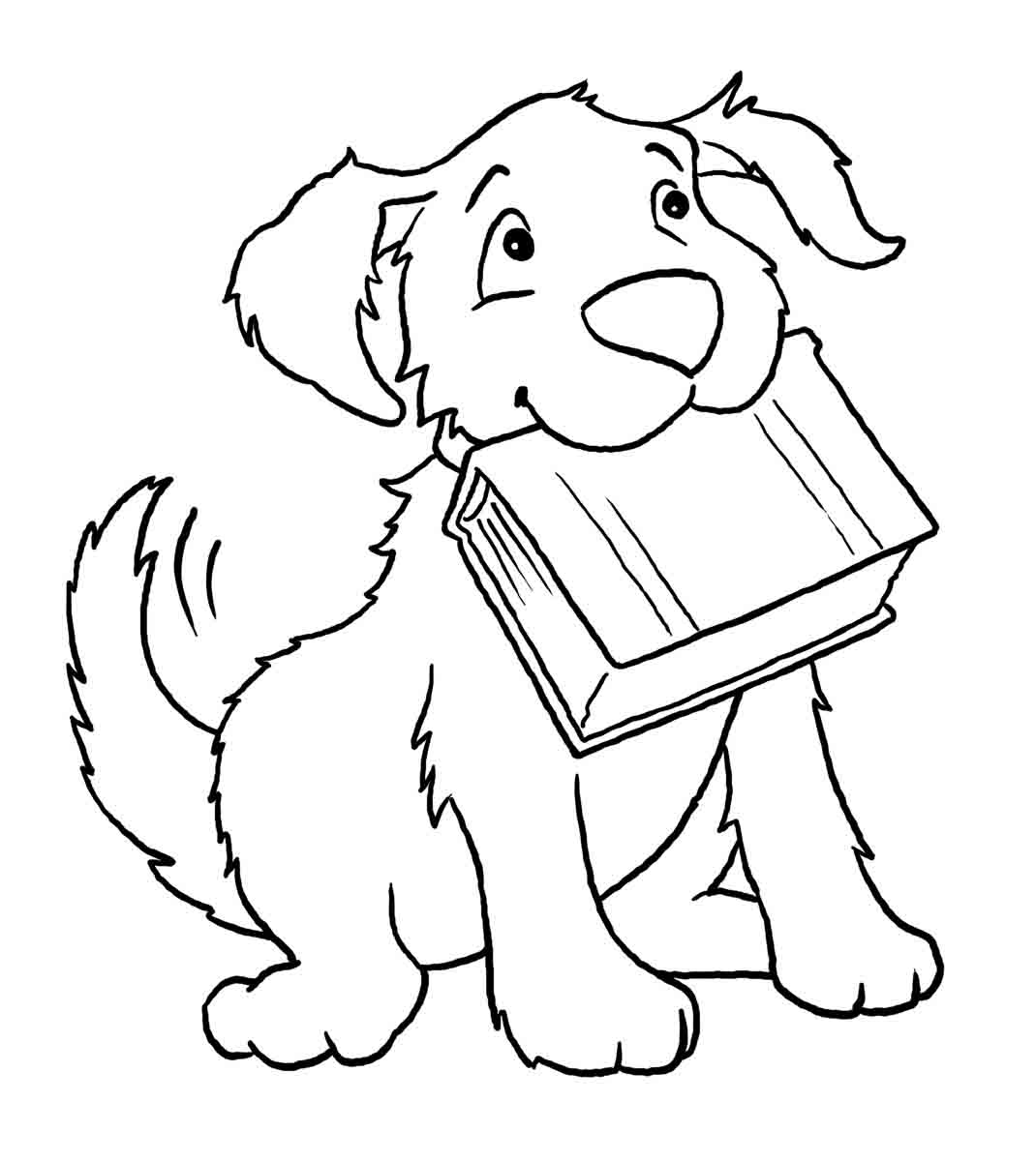 Desenho De Cachorro Fofo Para Colorir Tudodesenhos
