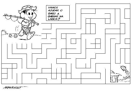 desenho de jogo do labirinto chico bento para colorir tudodesenhos
