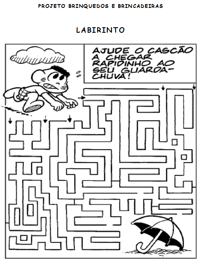 desenho de jogo do labirinto chuva para colorir tudodesenhos
