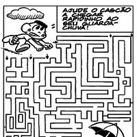 jogo do labirinto turma da monica para pintar tudodesenhos