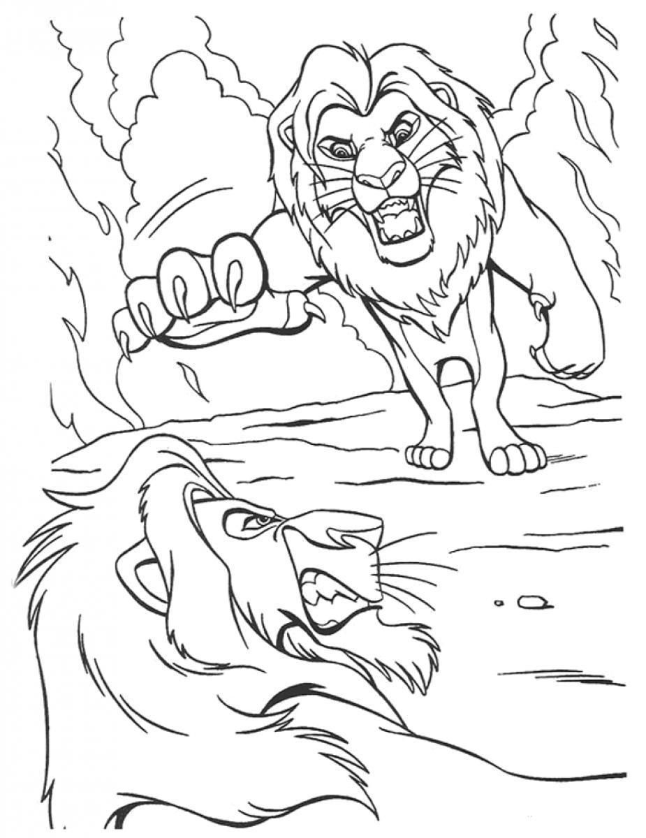 Desenho De Scar Matando Mufasa Para Colorir