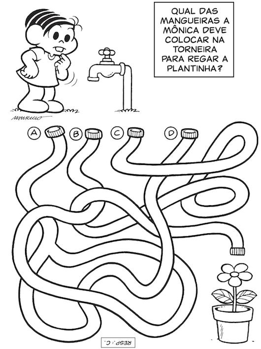 Desenho De Jogo Do Labirinto Monica Para Colorir Tudodesenhos
